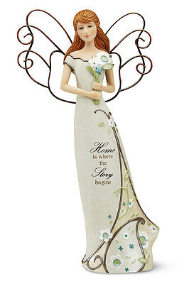 Home Angel with Bouquet Angel Figurine Comfort to Go Collectible - Home Decor