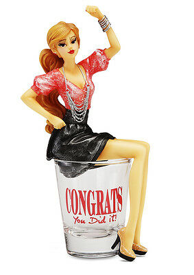 Congrats You Did It -  Girl in Shot Glass - Hiccup Fabulous Lady Figurine