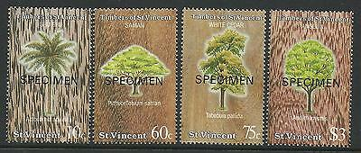 ST VINCENT 1986 TIMBER RESOURCES OPT 4v MNH