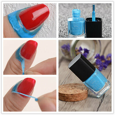 6ml Born Pretty Blue Liquid Tape & Peel Off Base Coat Nail Art Latex