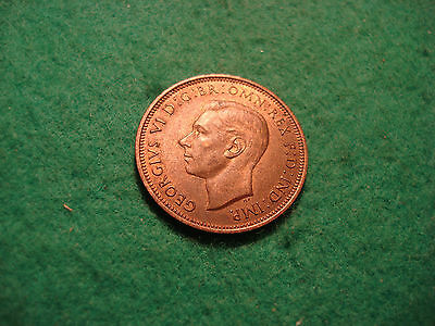 1939 George Vi Half Penny Uncirculated With Near Full Lustre  C158