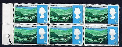 GB VARIETY 1966 Landscape 6d PHOSPHOR Stamp BLOCK 6 MISSING 'D' SG690pa REF:W796