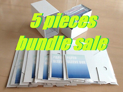 5 pieces set!! PAPER SLEEVE BOX / CARDBOARD STORAGE BOX for MINI LP CD