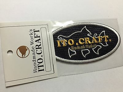 50102) ITO.CRAFT Patch (A) Navy blue base Ellipse 95mm
