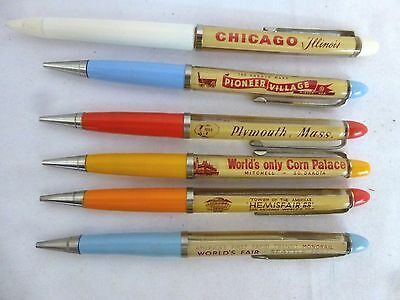 RARE Vintage Ballpoint Floaty Pens & Pencils w/Moving Liquid Parts: Made Denmark