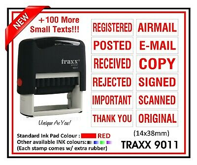 CLASSIFIED with Border TRAXX 9012 RED Self Inking Rubber Stock stamp