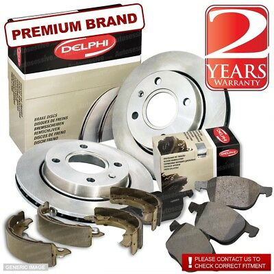 Volvo XC70 II 2.4 D5 Estate 202bhp Rear Brake Pads /& Discs 302mm Vented