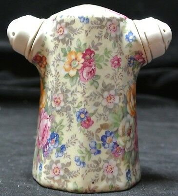 VINTAGE CHINTZ FLORAL SALT & PEPPER SHAKER Combination - Fire Hydrant Style-RARE
