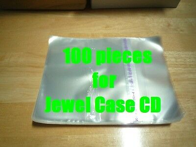 Resealable Outer Replacement Plastic Sleeves for CD Jewel Cases 100 pieces