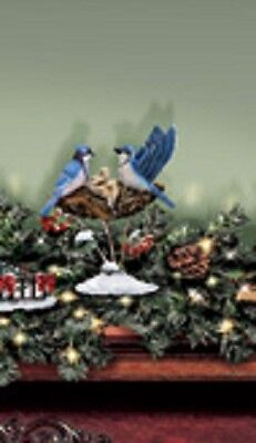 Blue Jays Songbird Holiday Garland Issue number 2 Bradford Exchange