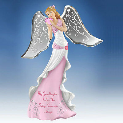 My Granddaughter I Love You Angel Figurine - Thomas Kinkade Bradford Exchange