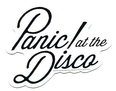 PANIC AT THE DISCO black on white logo STICKER decal a fever you cant sweat out