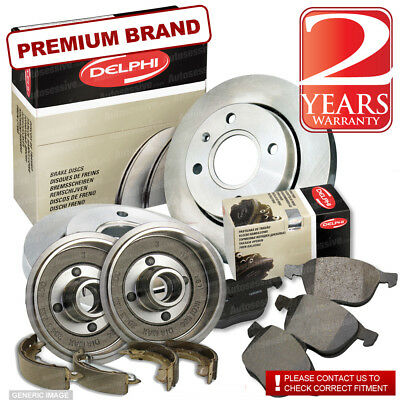 Citroen Berlingo 1.9 D Front Brake Discs Pads 266mm Shoes Drums 228mm 69 Van