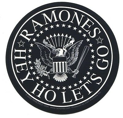 RAMONES eagle white on black STICKER **FREE SHIPPING** hey ho let's go d15642