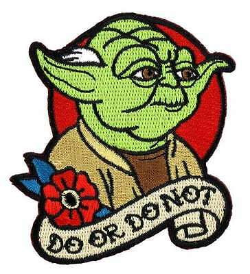 Star Wars Yoda Do Or Do Not Tattoo Art Embroidered Patch