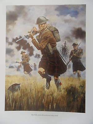 Print - THE KILT AT WAR - THE 79th AT THE RIVER ESCOUT