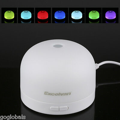 USB Essential Oil Ultrasonic Air Humidifier 7 Colors LED Aroma Therapy Diffuser