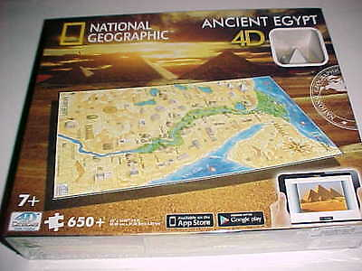 National Geographic Ancient Egypt 4D Cityscape Time Puzzle 650 22 x 14.67 New