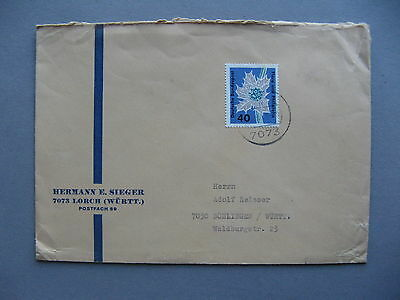 GERMANY BRD, cover 1963, single franking 40 Pf flower thisle