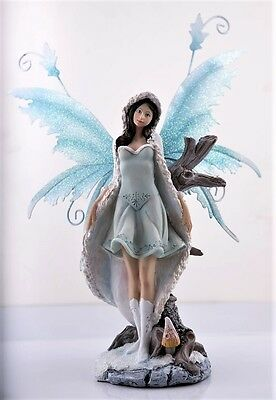 Snow Fairy  - Legends of Avalon Figurine with Metal Wings