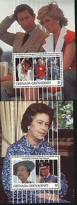 Grenada-Grenadines MNH Sc 1339-40 Royalty Souvenir sheet