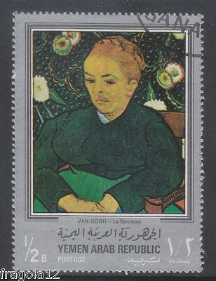 Republic North Yemen 1968 - Vincent Van Gogh - B. 1/2 (1) - Usato