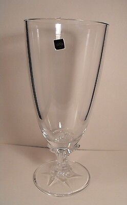 """Mikasa Large  Flower Vase 13 Tall"""" Clear Glass  with Stem and Foot"""