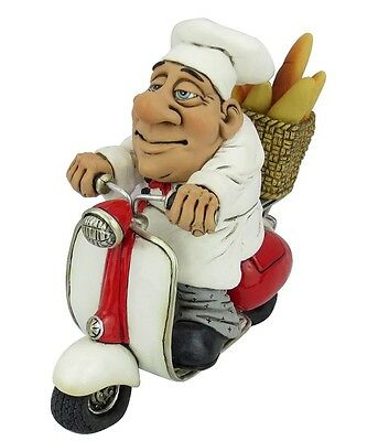 Chef on Scooter Character Figurine 16-470 - LB