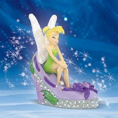 Disney -Tinker Bell Adorable Aster Pixie Figurine in a Shoe - Garden Style Shoes