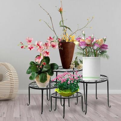 Large Plant Stand Flower Holder Metal Home Garden  Floor-Standing White Stand