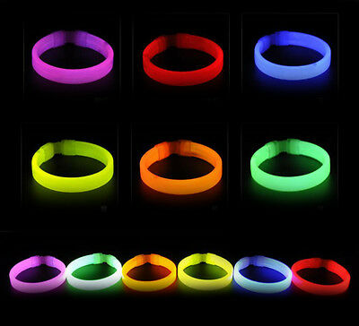 Glow Sticks Bracelets Neon Light Glowing Party Favors Rally Raves Hot Fashion