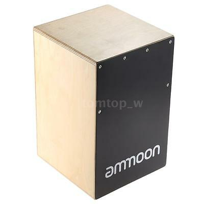 ammoon Wooden Cajon Hand Drum Children Box Drum with Stings Rubber Feet D3R8