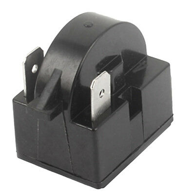 Black Plastic Shell 15 Ohm Resistance 2 Terminals Refrigerator PTC Starter Relay