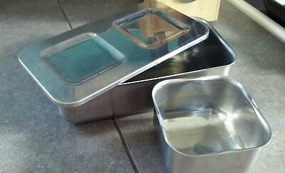 Vintage Flint Arrowhead Stainless steel storage containers - USA