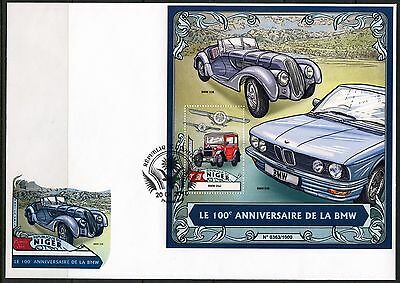 NIGER 2016 100th ANNIVERSARY OF THE BMW SOUVENIR SHEET  FIRST DAY COVER