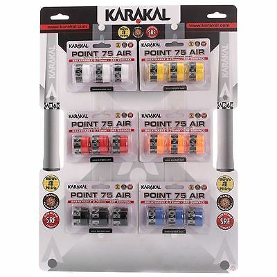 3 Karakal Point 75 Air Grips/Overgrips - Choice Of Colours - Free P&P