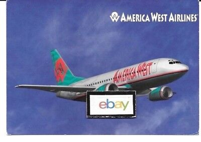 America West Airlines Boeing 737-300 Airline Issue New Livery Postcard