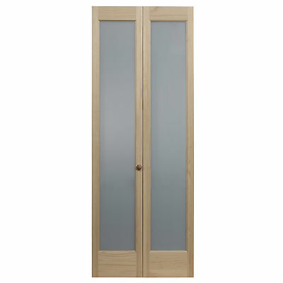 AWC 337 Frosted Full Glass 30-inch x 80.5-inch Unfinished Bifold Door