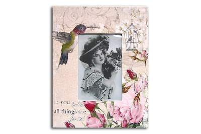 Hummingbird Picture Frame 4x6 inch Photo