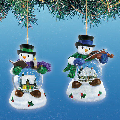 Let it Snow Waterglobe Snowman Ornaments issue 3- Bradford Exchange