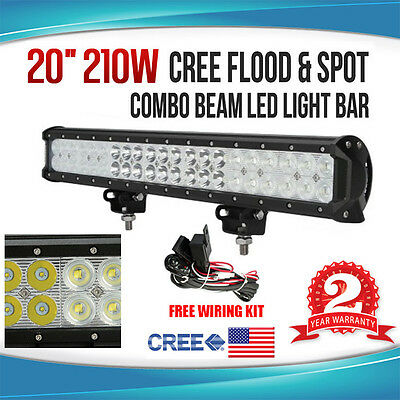 20inch 210W CREE LED Working Light Bar Flood/Spot Combo Beam