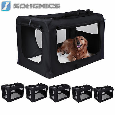 Faltbare S-XXXL Hundebox Katzenbox Transportbox Hundetransportbox Oxford Gewebe