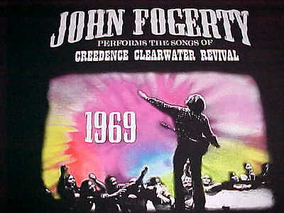 John Fogerty Performs Songs Of Creedance Clear Revival 1969 Black T-Shirt L