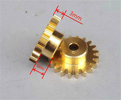 2pcs Motor spindle gear 20 teeth Metal Copper gear 4mm aperture tight with shaft