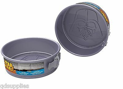 "Darth Vader Star Wars Cake Baking Tin Round 8"" 20cm Non Stick Springform 79191"