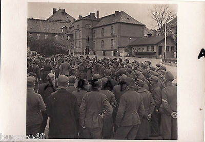 WW2 German Prisoners of War POWs in Barrack  compound ?