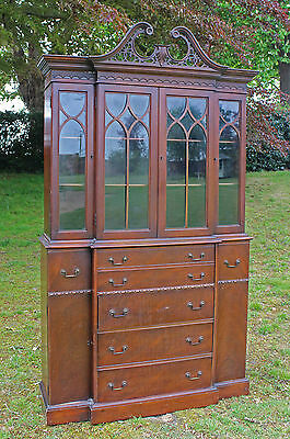 18th Century Style Mahogany Secretaire Bookcase Maddox Furniture Co Jamestown NY
