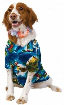 Pet Dog Cat Hawaiian Shirt Lei Hula Luau Fancy Dress Costume Outfit Clothes S-XL