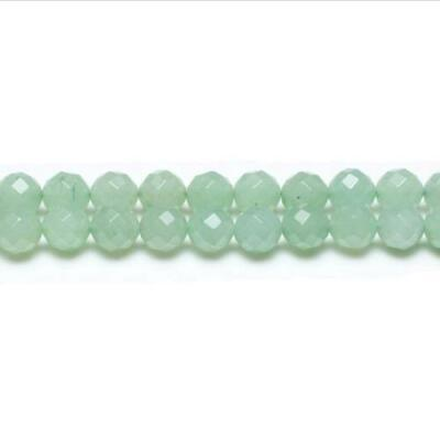 Strand Of 62+ Green Aventurine 6mm Faceted Round Beads GS1627-2