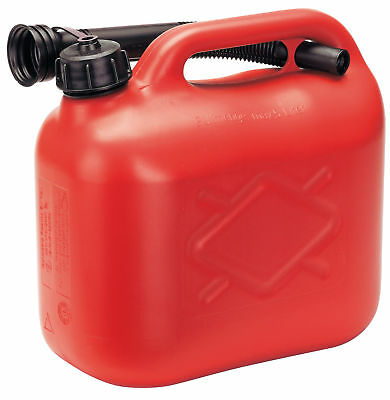 Draper 23227 5L Plastic Fuel Can Red Petrol Diesel Pouring Spout Lightweight